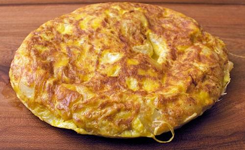 Frittata con farina e parmigiano