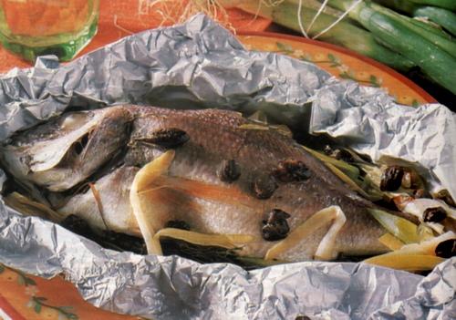 ... insaporire per 2 minuti a bagnomaria con finocchietto tritato e aglio