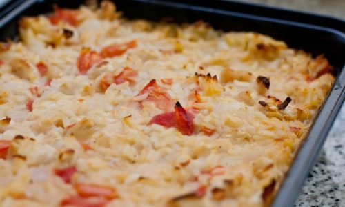 Risotto al forno con peperoni