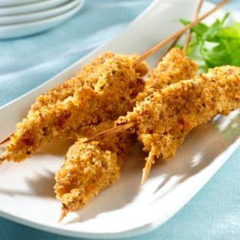 Petto di pollo a fisarmonica impanato e fritto