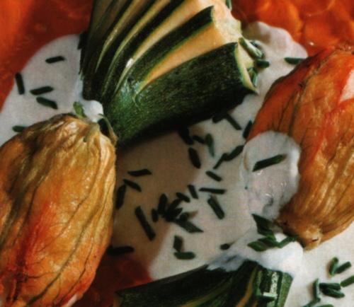 Zucchine in crema farcite alla polpa di pesce