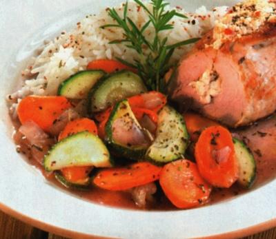 Filetto di maiale con verdure