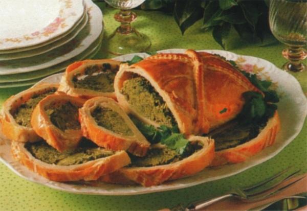 Rotolo di pasta sfoglia ai broccoli