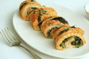 Salmone farcito agli spinaci p