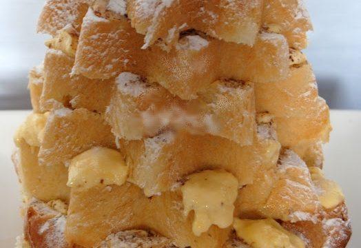 Pandoro farcito con crema d'arancia