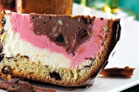 Panettone farcito con gelato in vari gusti
