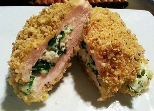 Cordon bleu fatti in casa con spinaci e mozzarella