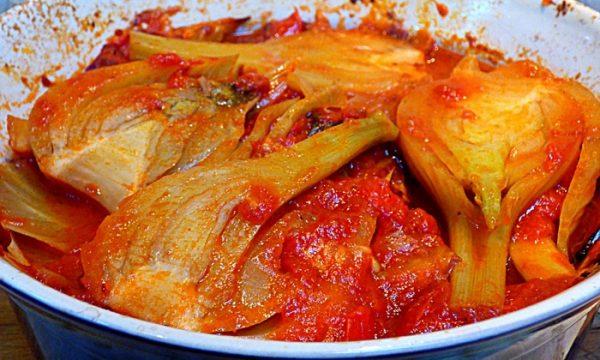 Finocchi al pomodoro e panna