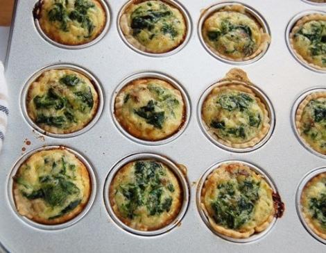 Muffin salati al lievito istantaneo agli spinaci2
