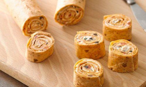 Rotolini di crespelle con verdure e formaggio