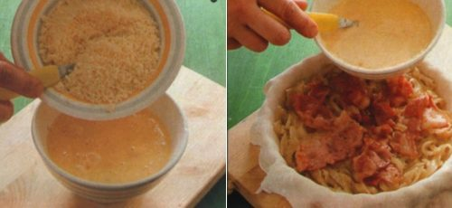 Torta di pasta sfoglia salata appetitosa