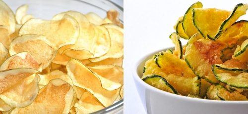 Chips di patate carote e zucchine