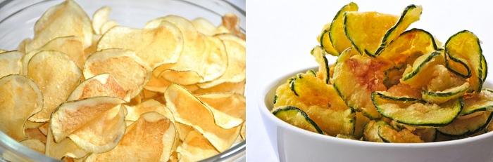 Chips di patate carote e zucchine2