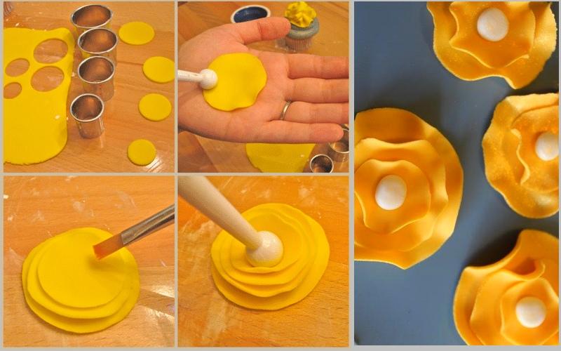 Come realizzare con il marshmallow fondant le decorazioni floreali11