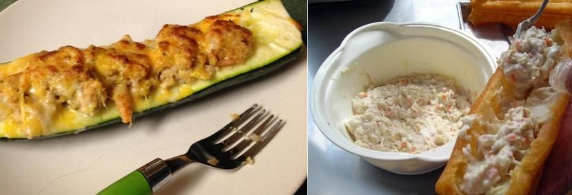 Zucchine e carote farcite al tonno e maionese