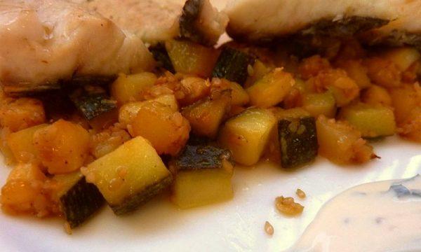 Filetti di sogliola in cartoccio con le zucchine