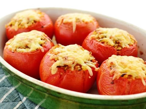 Pomodorini farciti con zucchine e uova