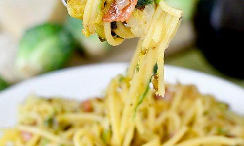Spaghetti con patate e pancetta