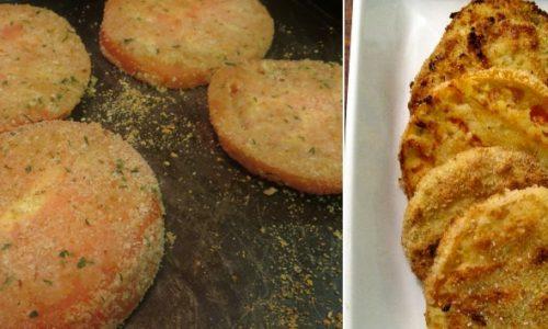 Pomodori alla griglia al pangrattato