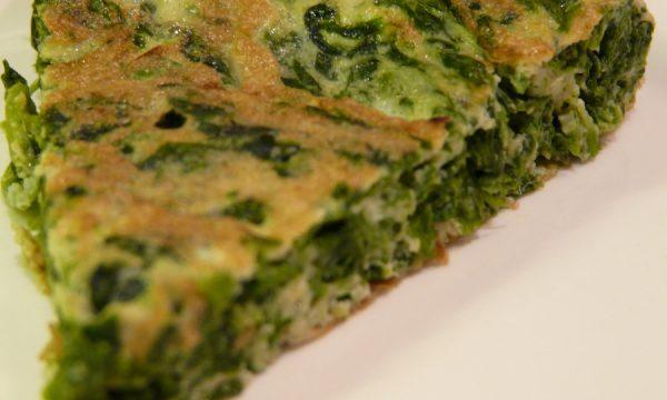 Tortino di spinaci con uova e panna