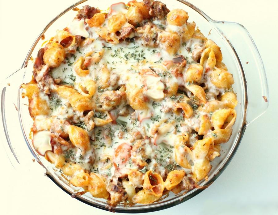 conchiglioni-al-forno-con-funghi-e-mozzarella