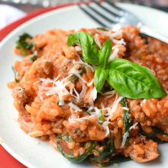 risotto-al-forno-con-carne-trita-e-salsiccia
