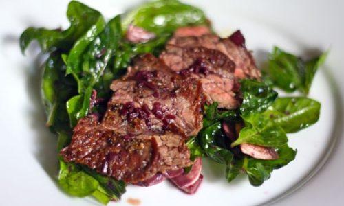 Braciola di maiale agli spinaci