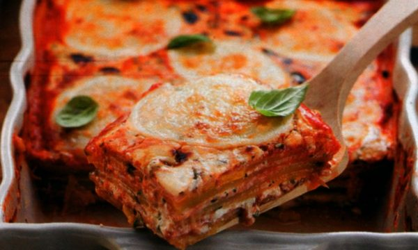 Parmigiana di zucchine prosciutto e zucca