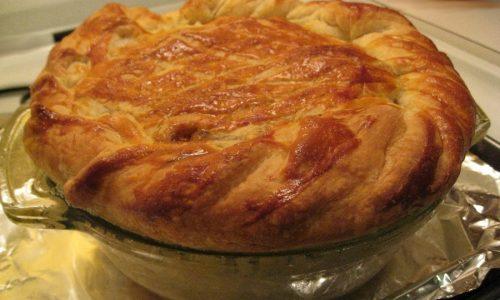 Torta salata al provolone e pomodori secchi