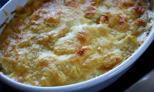 Finocchi gratinati con carne trita pomodoro e panna