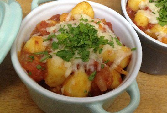 Gnocchi di patate gratinati in cocotte