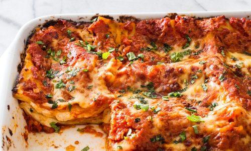 Lasagne senza carne farcite al formaggio