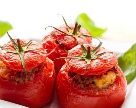 Pomodori al forno farciti alla carne trita