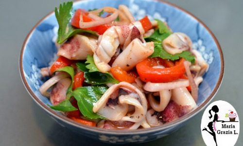 Anelli di calamari ai peperoni