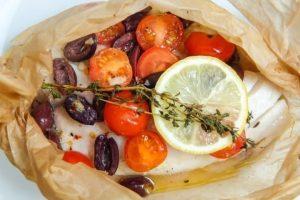 Filetti di sogliola al cartoccio alle verdure