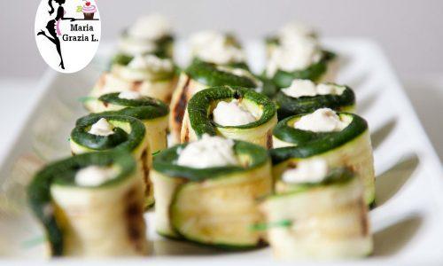 Involtini di zucchine con formaggio