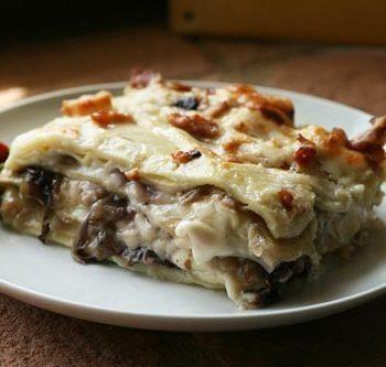 Lasagne ai carciofi e radicchio