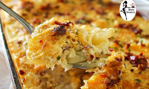 Tortiera di alici con patate e peperoni