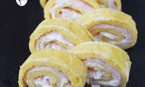 Rotolini di frittata al formaggio morbido