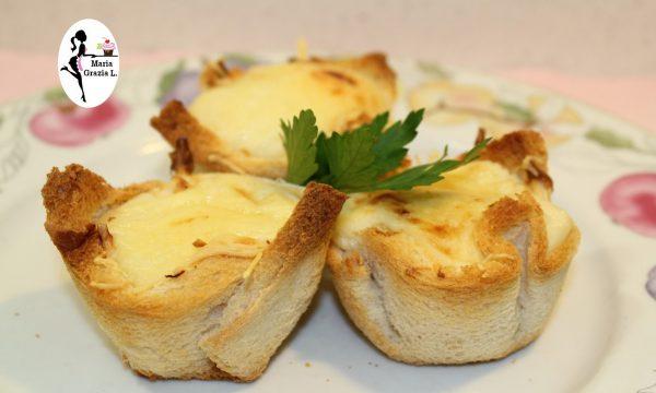 Cestini di pasta fillo con finocchi e gorgonzola