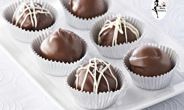 Tartufi di cioccolata alla nocciola