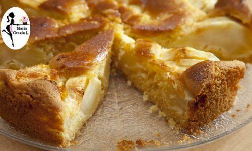 Torta di mele senza bilancia (video)