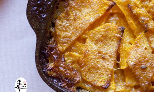 Petto di pollo e zucca gratinato in forno