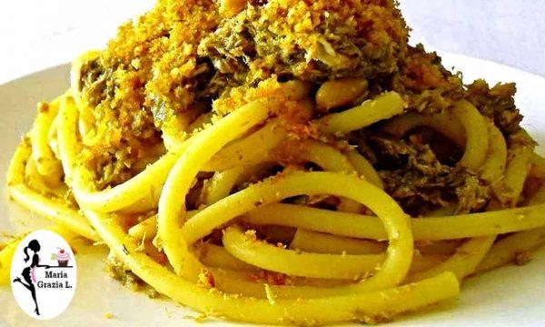 Pasta di San Giuseppe con mollica e verdure