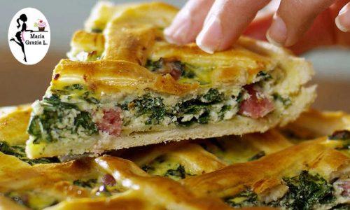 Torta pasqualina alla mortadella e verdure
