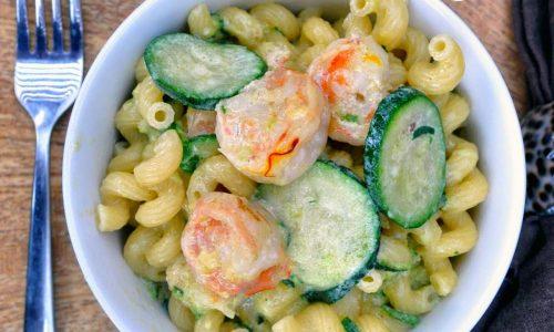Pasta alle zucchine e gamberetti