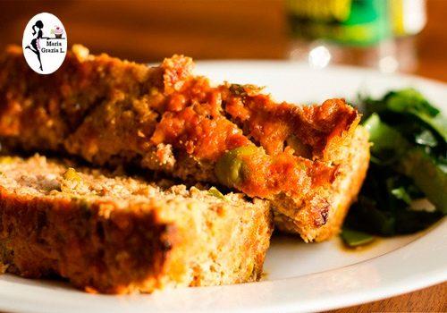 Polpettone di pollo alle olive verdi