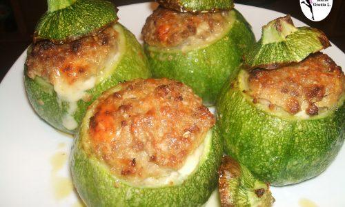 Zucchine con melanzane ricotta e caprino