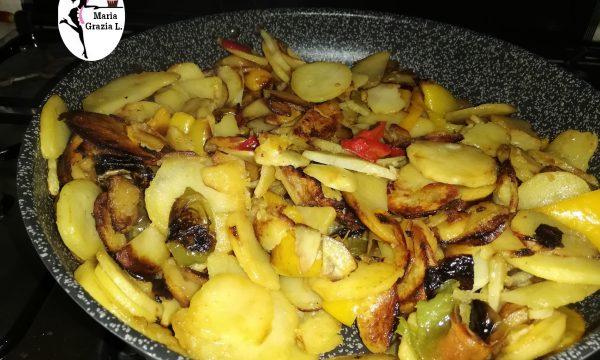 Patate e peperoni fritti alla calabrese Video
