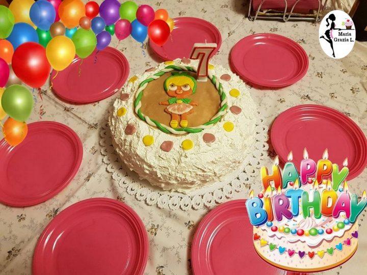 avevo a disposizione la pasta di zucchero con tutti i colori che mi  servirono, ecco fatta!!! cosa ne pensate? per me una torta vivace è  colorata.